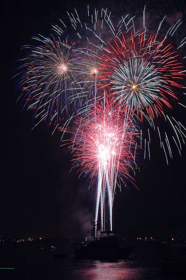 Ossining holds its annual fireworks display Wednesday evening.
