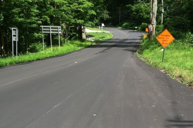 Drivers in Pound Ridge find smooth sailing on recently resurfaced Westchester Avenue.