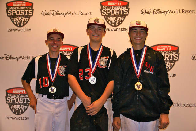 Wilton residents Jack Dooley, Ian Filaski and Dillon Lifrieri helped the Wolfpack from Fairfield County win the 13U AAU National Championship.