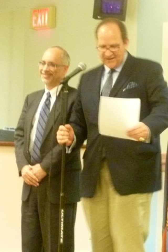 Dobbs Ferry Trustee Vincent Rossillo, left, is running for his second two-year term on the Democratic Party line in November.