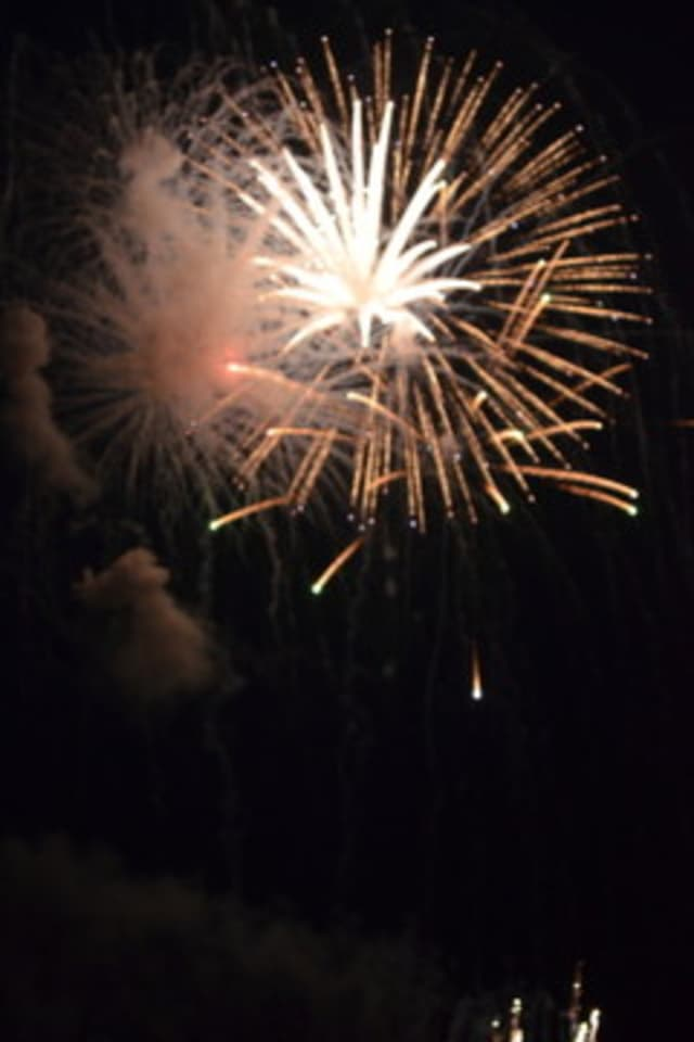 The fireworks on the Fourth of July bring out the crowds every year in Wilton.
