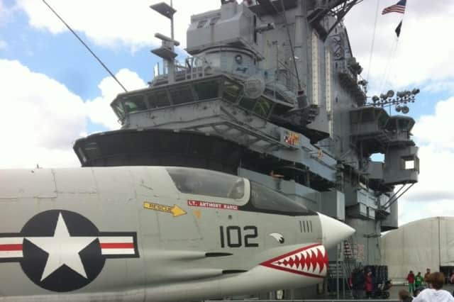 Visit the Intrepid this weekend with the help of the Hendrick Hudson Library.