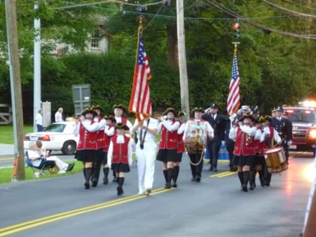 The Mount Kisco Fire Department's Ancient Fife and Drum Corps marched in last year's parade.