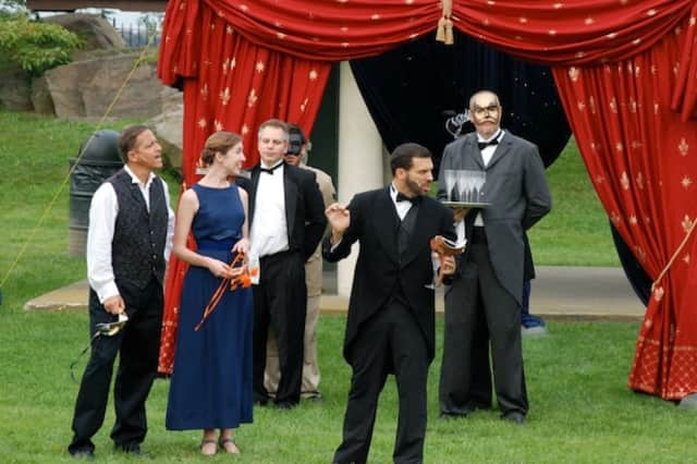 """A scene from the 2012 Port Chester Council for the Arts LawnChair Theatre production of """"Much Ado About Nothing."""" This year's performance will be a """"Mad Men"""" inspired production of """"The Taming of the Shrew."""""""