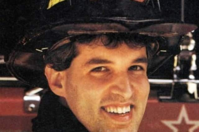 The remains of Tuckahoe firefighter Jeffrey Walz was returned to his family.