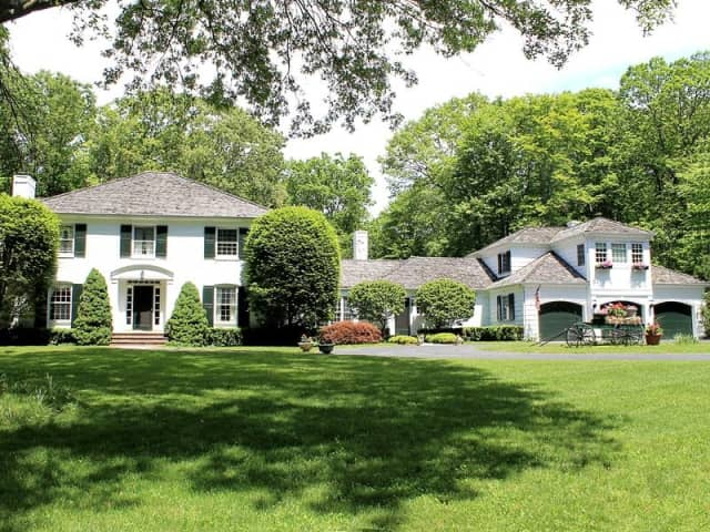 The home at 49 White Fall Lane in New Canaan will be open from 2 to 4 p.m. on Sunday.