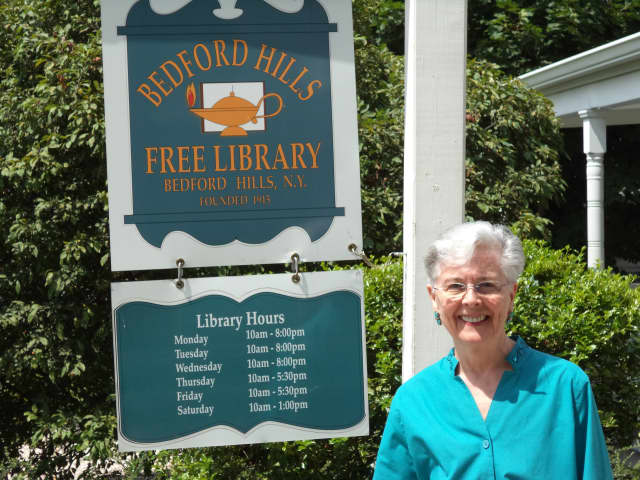Rhoda Gushue has been library director for 36 of the 43 years she has worked at the Bedford Hills Free Library.