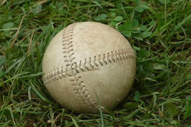 This is the kind of vintage baseball that will be used in the old-time baseball game Saturday, July 9 in River Edge, N.J.
