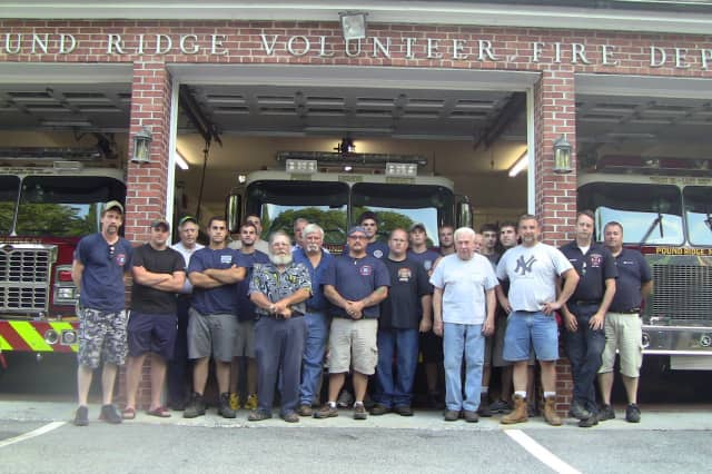 The all-volunteer Pound Ridge Fire Department stands ready to help town residents.