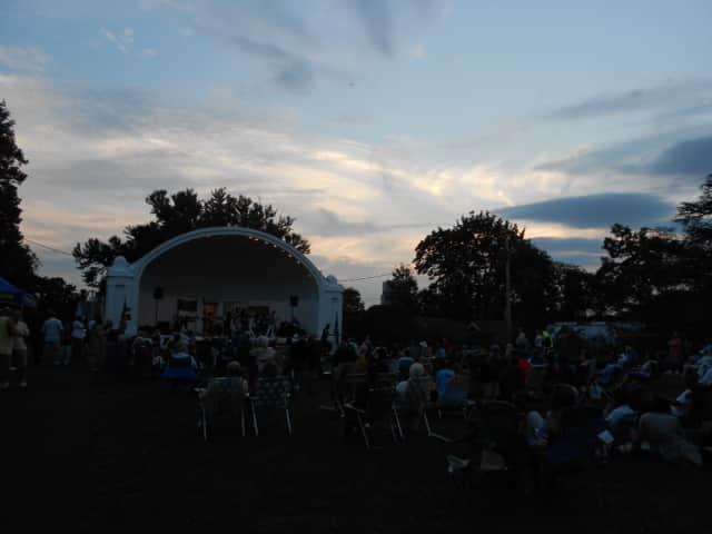 The historic Hudson Park band shell