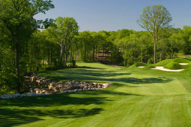 A look at the 10th hole at the Pound Ridge Golf Club.