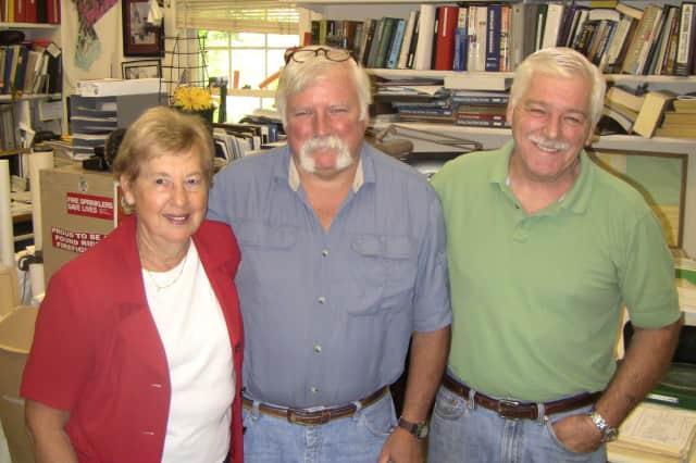 Charlotte Sasloff, left, James Perry, center,  and Arthur Travis work in the Pound Ridge Building Department.