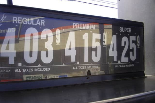 Gas prices are on the rise in Scarsdale.