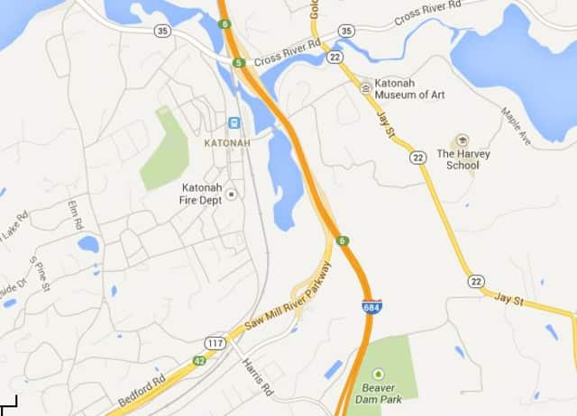 A dump truck overturned on Interstate 684 in Katonah Monday morning, state police said.