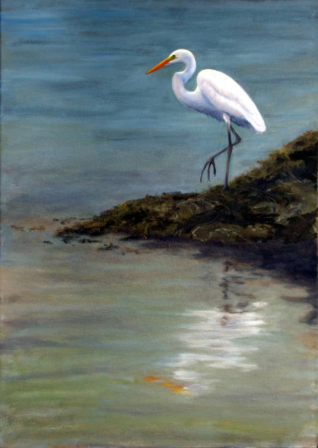 "Artist Jan Prentice's ""At The Edge Of The Sea"" is one of many works that will be on display at Ward Pound Ridge reservation through September."