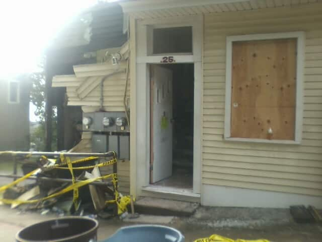 A fire at 25 Secor Road displaced 11 people in Ossining Monday, police said.