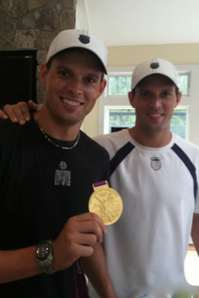 Tennis players Bob (left) and Mike Bryan will return to the Lake Club in Wilton next month.