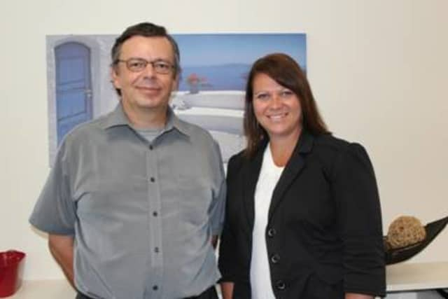 Marcel Hegglin, Mount Kisco resident and United Way of Northern Westchester Local Presence Chair, with Patrice Monaghan, director of the Mount Kisco Clinic of the Mental Health Association of Westchester.