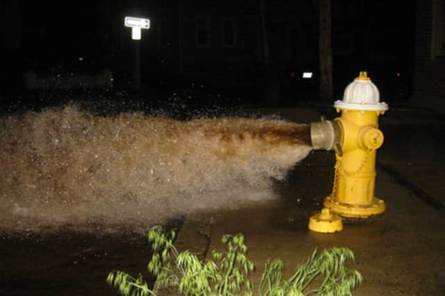 Hydrant flushing in Briarcliff Manor resumed this week.