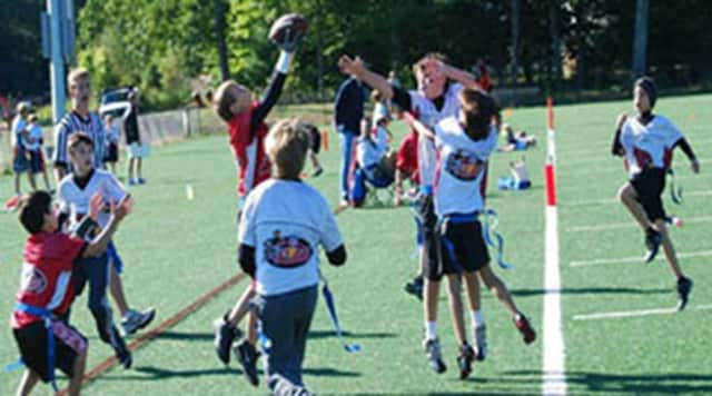 Kids from grades 3 through 8 can partake in New Canaan's Flag Football League this fall.
