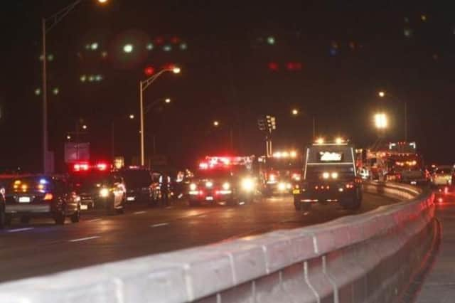 Traffic was backed up for hours after a multi-car crash on the Tappn Zee Bridge.