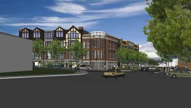An artist's rendering of what the Dale Avenue apartments will look like in Tuckahoe.