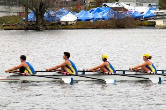 Lily Lindsay, 16, a Harrison resident and member of the Pelham Community Rowing Association, (r) will compete at the 2013 World Rowing Junior Championships in Lithuania.