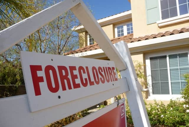 Foreclosure numbers are soaring in Westchester and Rockland counties.