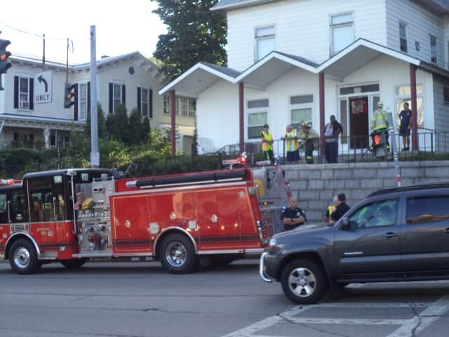 Ossining firefighters responded to a fire at an apartment building Wednesday morning.