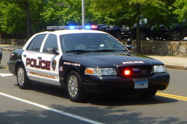 Two cars that had been left unlocked with the keys inside were reported stolen in New Canaan on Monday