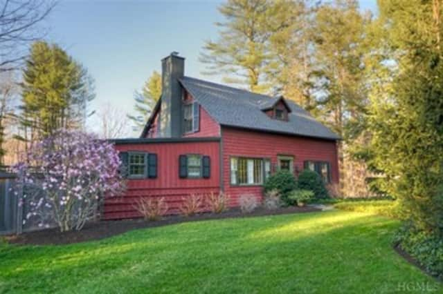 This house at 321 Stone Hill Rd in Pound Ridge is open for viewing on Sunday.