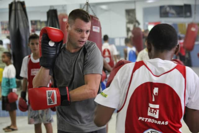 Luke Dowdney's Founder of LUTA sportswear, is helping raise funds to support New Rochelle's CHAMPS Boxing Club.