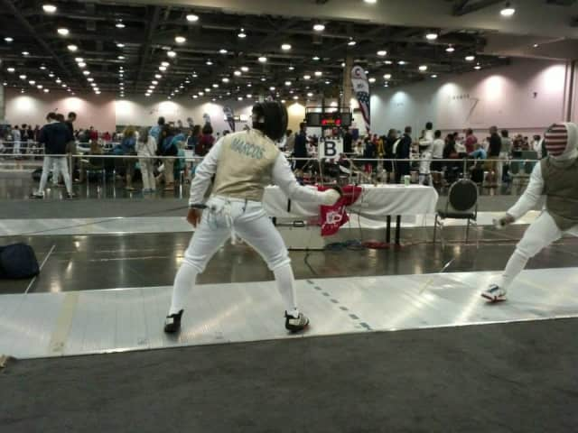 Purdys teenager Tyler Marcos recently placed sixth out of more than 200 competitors in a national fencing competition.