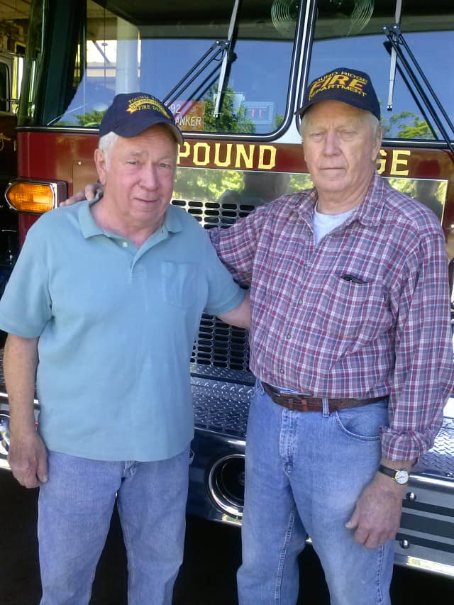 Bob Meyer and Ray Clark have volunteered for the Pound Ridge Fire Department for a combined 95 years.