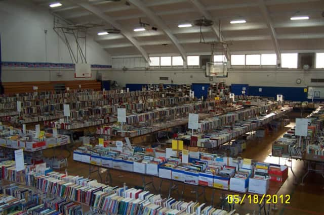 Just a few of the thousands of books on offer from last year's book sale.