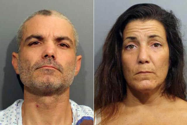 Milford residents Frank Keller and Kristin McCann were arrested in Wilton Friday and charged with burglary.