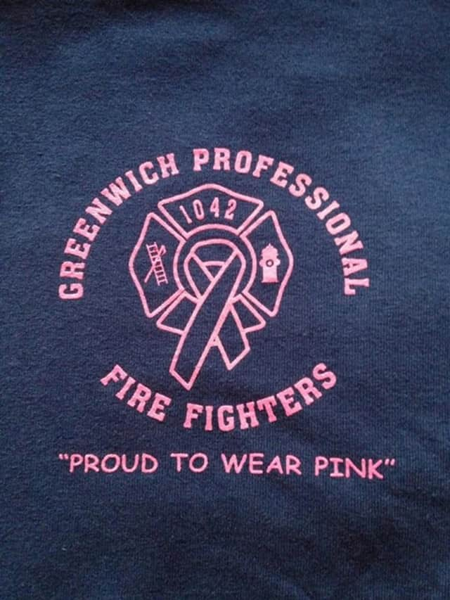 Greenwich Professional Fire Fighters will wear pink in October in honor of Breast Cancer Awareness.