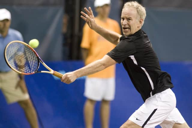 John McEnroe will host a clinic and autograph session at Sportime in Eastchester on Saturday.