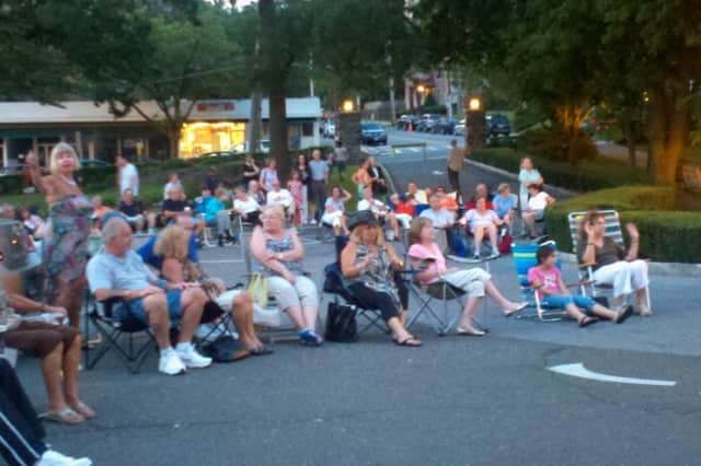 Eastchester residents enjoy last year's Summer Concert Series at Town Hall.
