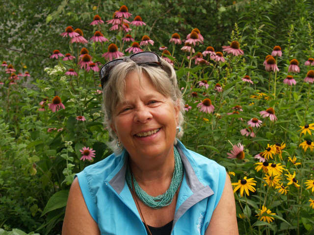 Judy Gilroy is the New Canaan Nature Center Preschool's new Mommy, Me and Nature teacher.