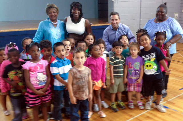 State Sen. Bob Duff (D-Norwalk), pictured at an event at Norwalk''s Head Start program at Nathaniel Ely School, will join the Norwalk Housing Authority Oct. 23 in asking for more state support of afterschool programs..
