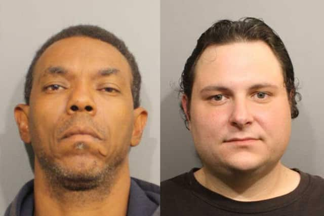 From left, Gregory Whren and Christopher Barocsi were charged with stealing from the Wilton Stop & Shop following a police pursuit last Wednesday, police said.