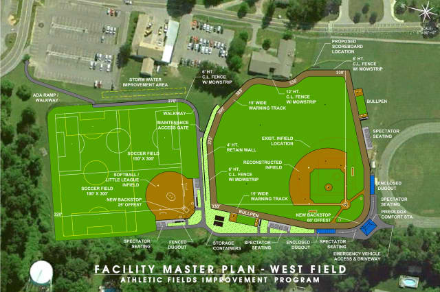 Renovations are under way on the athletic fields at SUNY Westchester.