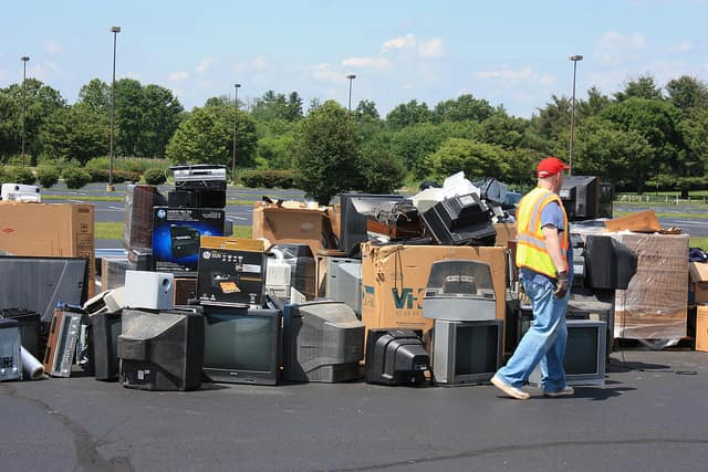 Pelham residents can drop off old electronics at the village hall parking lot.