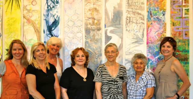 Artists featured from left to right: Stephanie Joyce, Claudia Mengel, Susan Newbold, Barbara Harder, Shiela Hale, Elisa Khachian and Kerry Brock