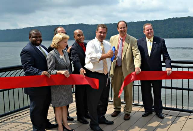 Yonkers Mayor Mike Spano officially opened the newest fishing pier in Yonkers on Thursday.