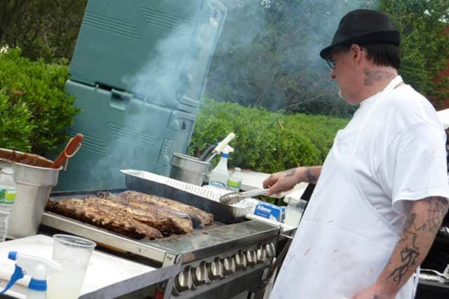Barbecue ribs are one of many items on the menu at the Mother Seton Knights of Columbus BBQ on Sunday.