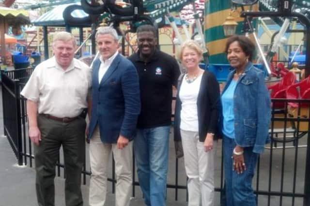 From left, County Legislator Bill Ryan, CAI President Valerio Ferrari, Board of Legislators Chairman Ken Jenkins,   Legislator Judy Myers and Legislator Alfreda Williams.
