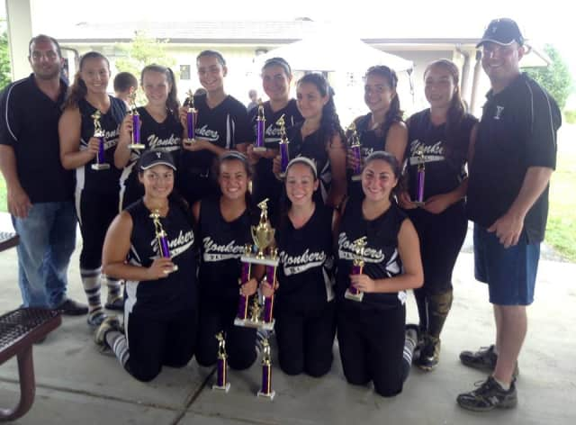 The Yonkers PAL Girls 14-Under softball team won 14U Labor Day 2013 All Shore Tournament in Holmdel, New Jersey
