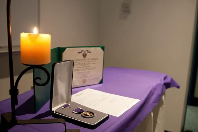 Ossining was designated a Purple Heart Heart Town this week.